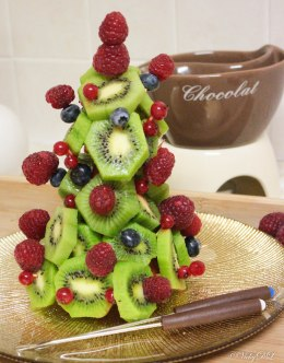 kerstboom van fruit