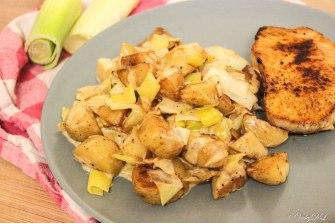 aardappelen met prei en roomsaus