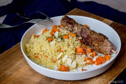 couscous met wortelen en rumsteak