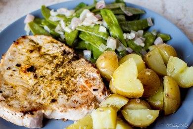 aardappelen uit de oven met boontjes