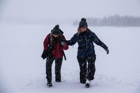 frozen lake lapland akaslompolo