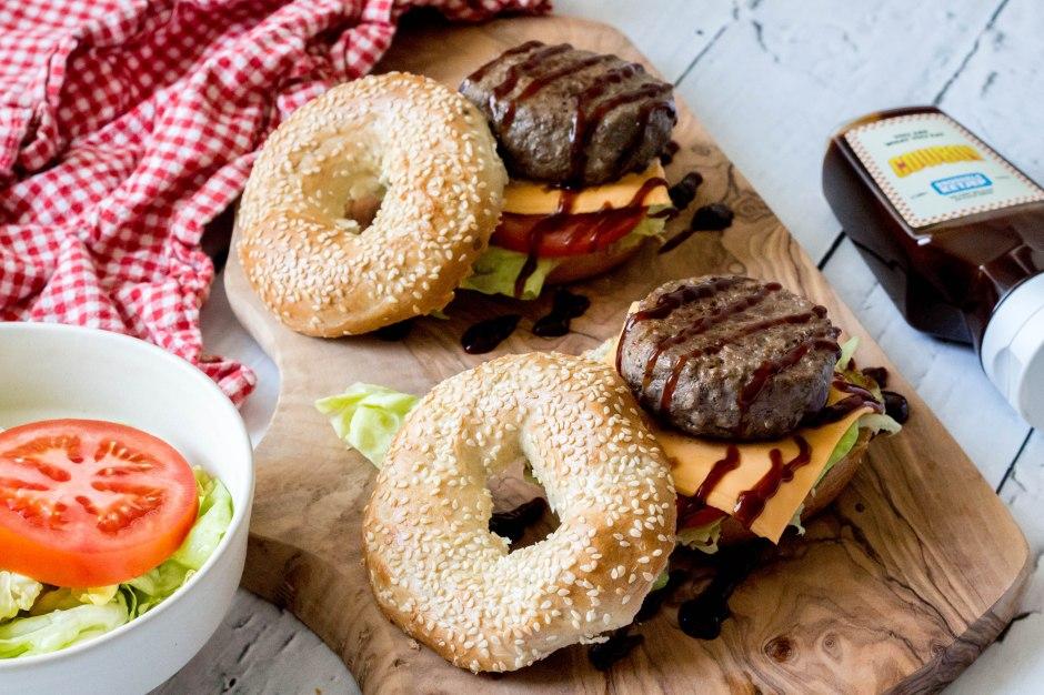 Bagel-hamburgers